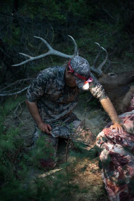 archery, hunting, elk, packing out, montana, missouri breaks, sitka gear, josh rokosch
