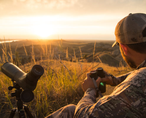 archery, elk, hunting, montana wild, the breaks, the outlier, sunset, glassing