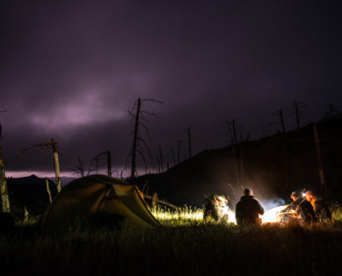 archery, elk, hunting, montana wild, the breaks, night, photography, lightning, the outlier, film, homies